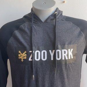 Zoo York Grey Long Sleeve Hooded Shirt Small